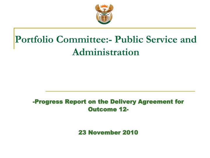 portfolio committee public service and administration n.