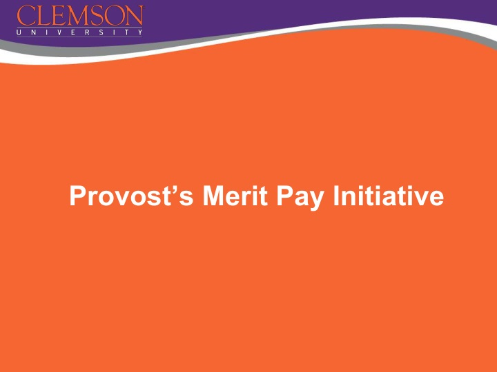 provost s merit pay initiative n.