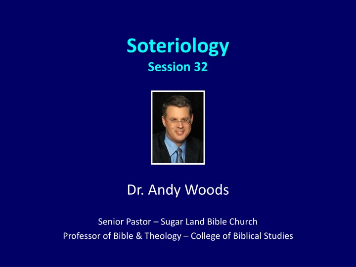 soteriology session 32 n.