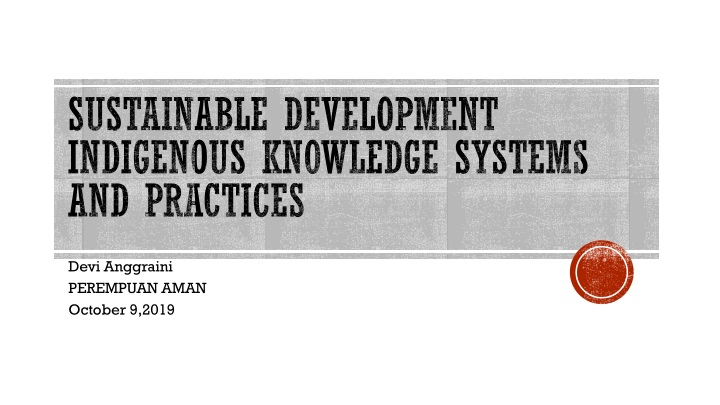 sustainable development indigenous knowledge systems and practices n.