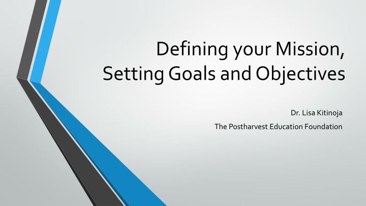 defining your mission setting goals and objectives n.