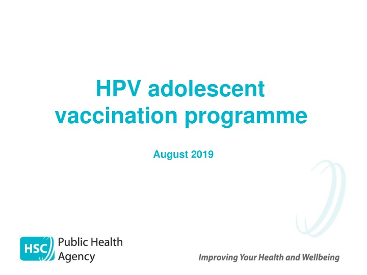 hpv adolescent vaccination programme august 2019 n.