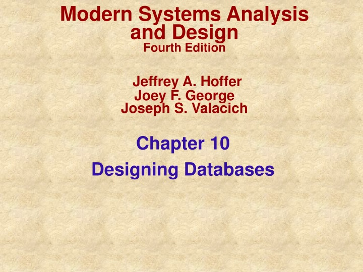 Ppt Chapter 10 Designing Databases Powerpoint Presentation Free Download Id 249101