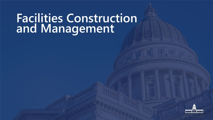 facilities construction and management n.
