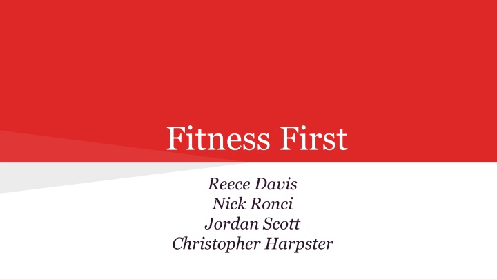 fitness first n.