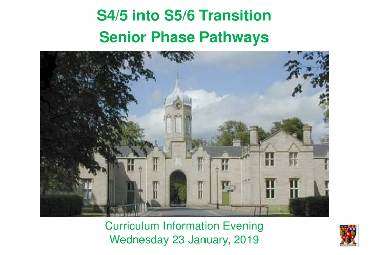 s4 5 into s5 6 transition senior phase pathways n.