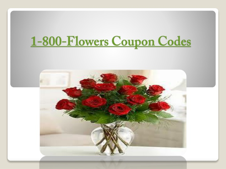 1 800 flowers coupon codes n.