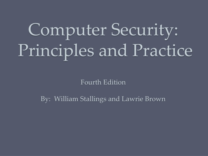 computer security principles and practice fourth n.