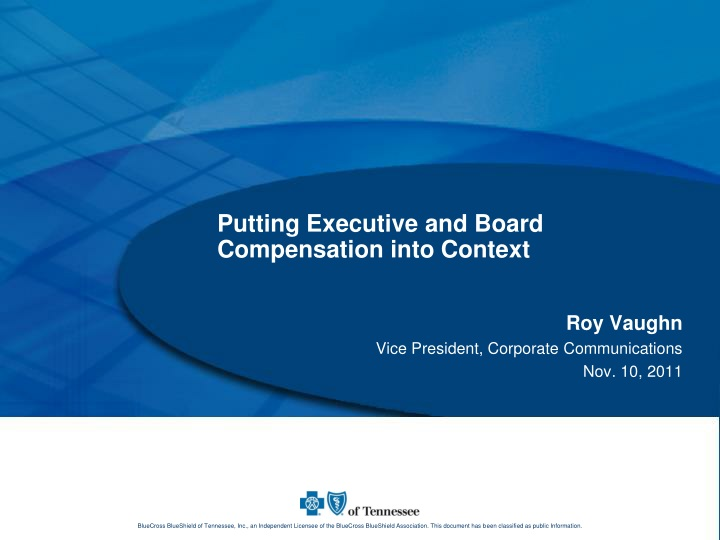 putting executive and board compensation into context n.