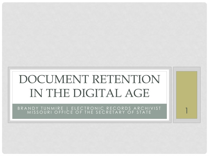 document retention in the digital age n.