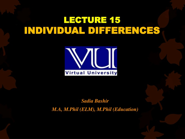 lecture 15 individual differences n.