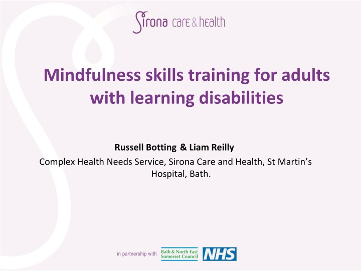 mindfulness skills training for adults with learning d isabilities n.