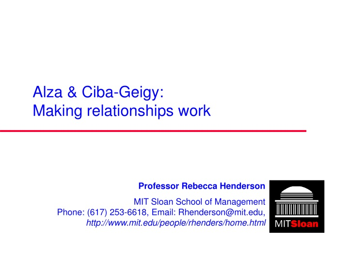 alza ciba geigy making relationships work n.