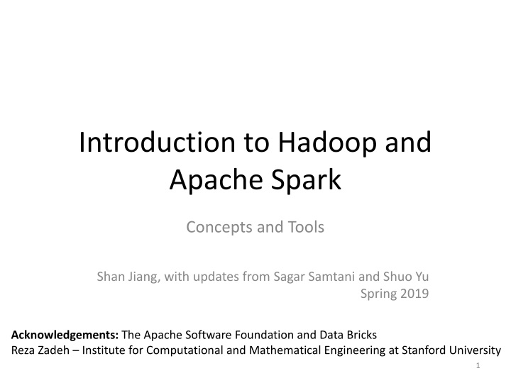 introduction to hadoop and apache spark n.