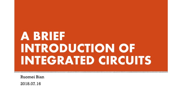 a brief introduction of integrated circuits n.