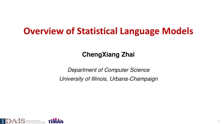 overview of statistical language models n.