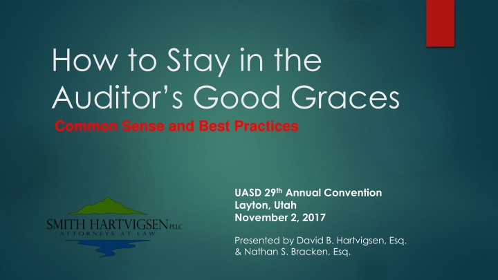 how to stay in the auditor s good graces n.