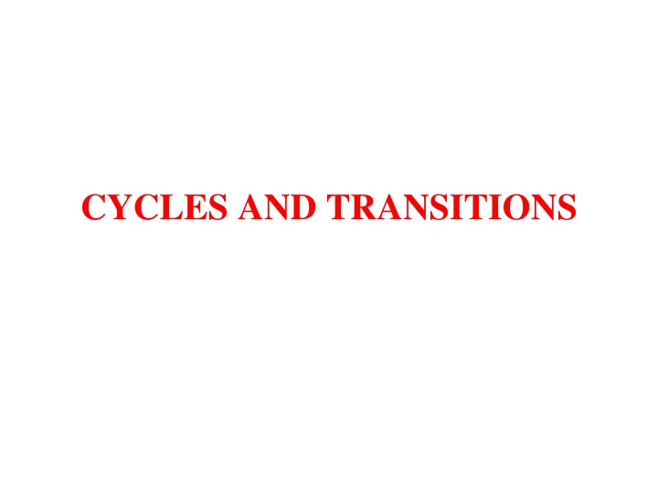 cycles and transitions n.