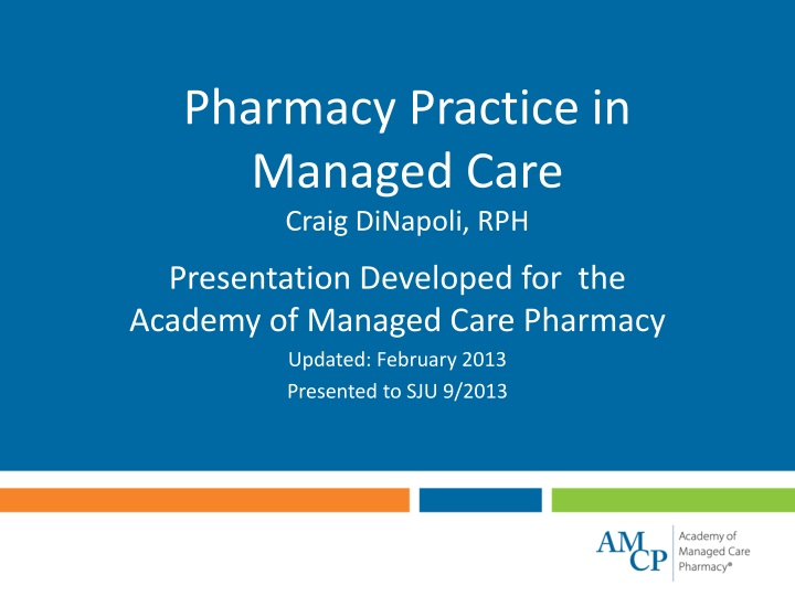 pharmacy practice in managed care craig dinapoli rph n.