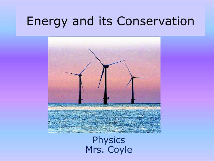 energy and its conservation n.