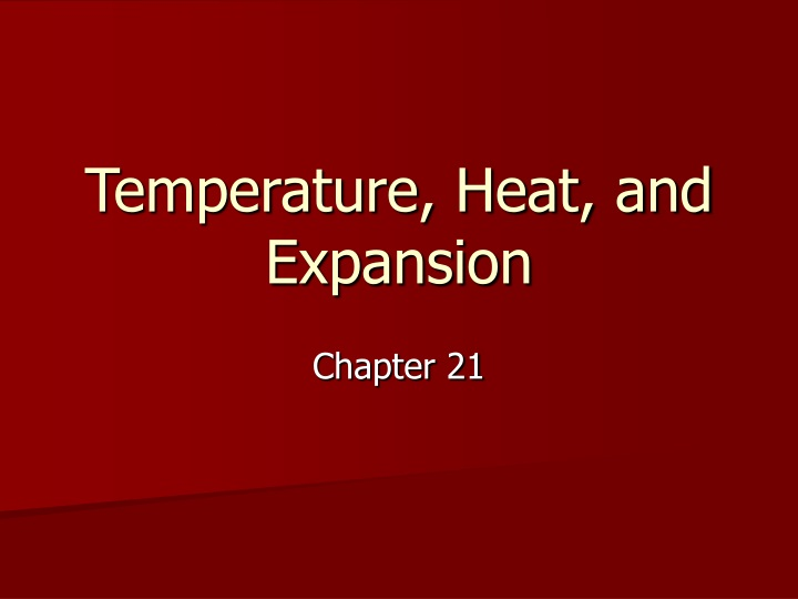 temperature heat and expansion n.