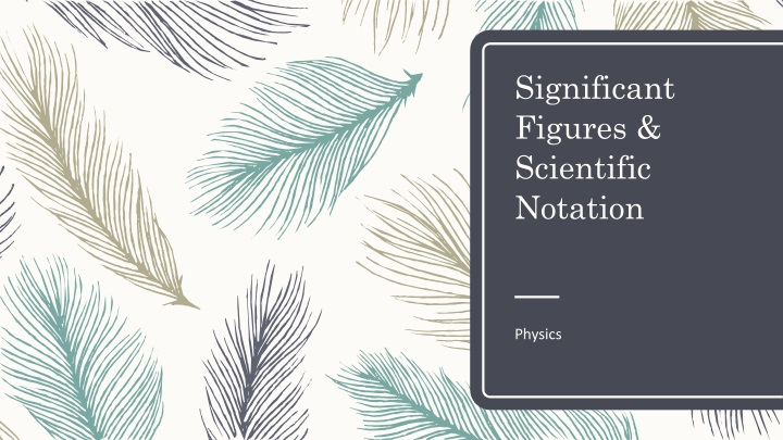significant figures scientific notation n.