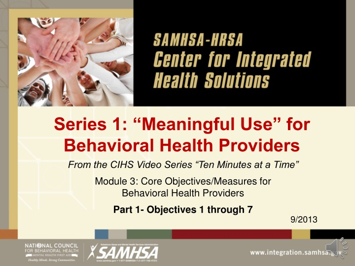 series 1 meaningful use for behavioral health providers n.