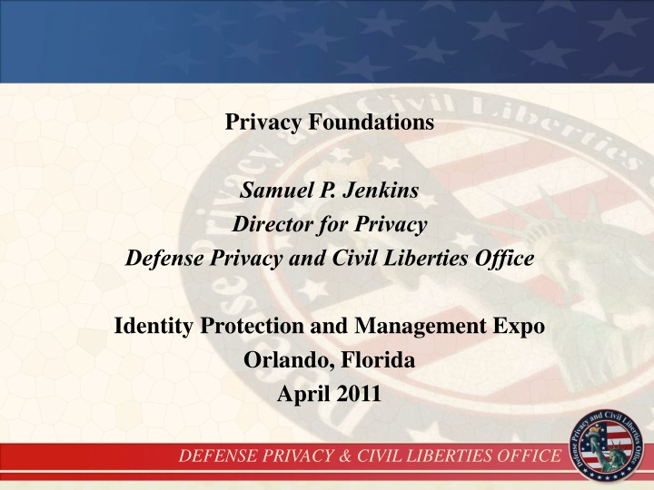 privacy foundations samuel p jenkins director n.