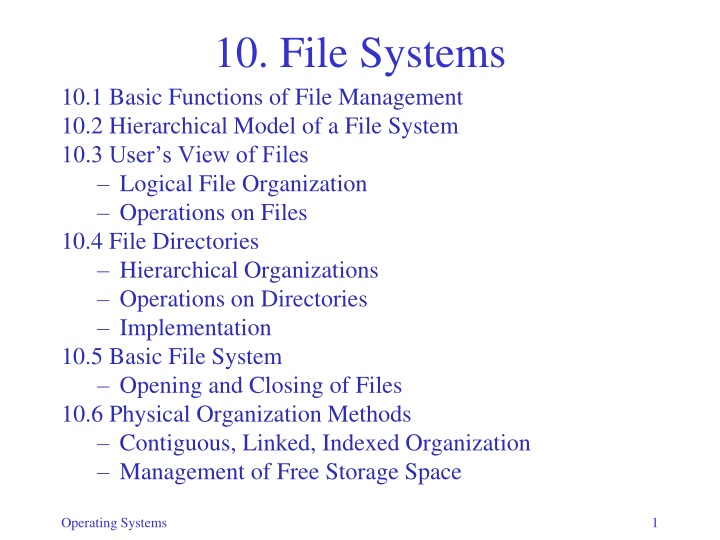 10 file systems n.