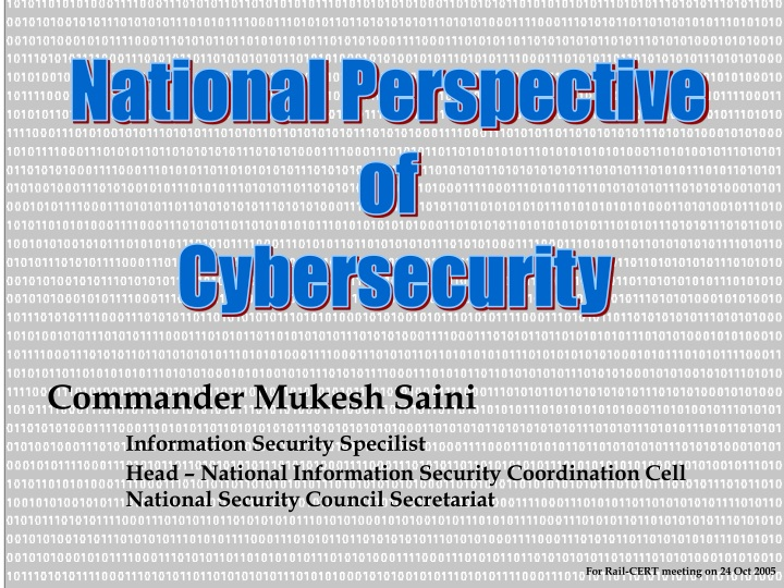 national perspective of cybersecurity n.