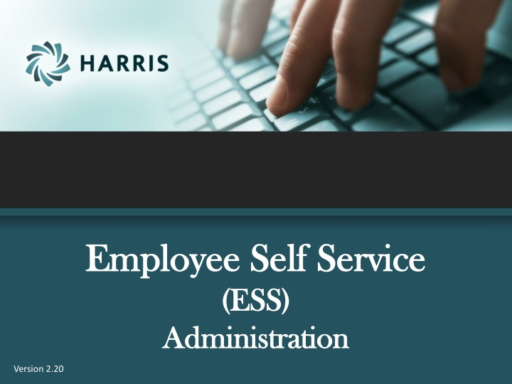 employee self service ess administration n.