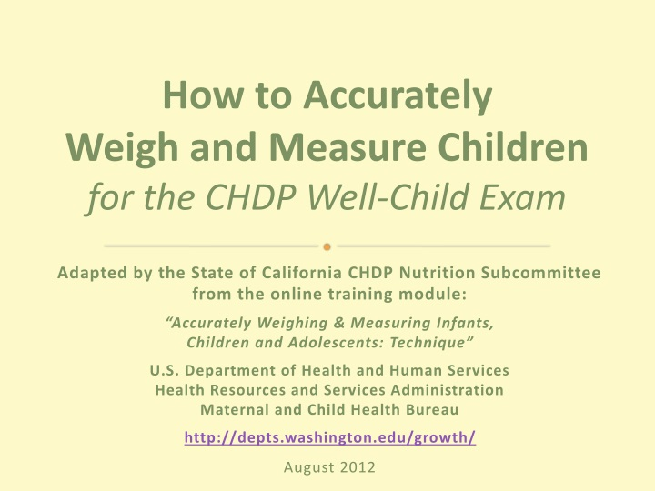 how to accurately weigh and measure children n.