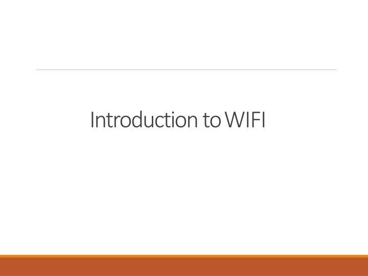 introduction to wifi n.