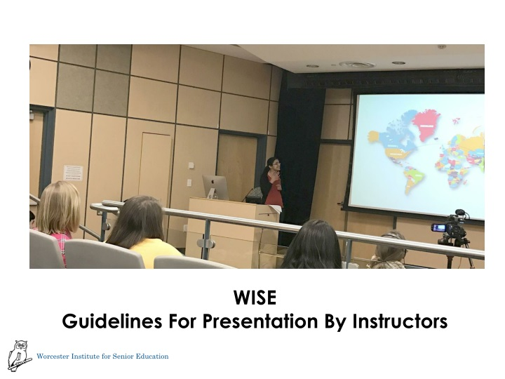wise guidelines for presentation by instructors n.