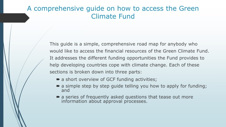 a comprehensive guide on how to access the green c limate f und n.