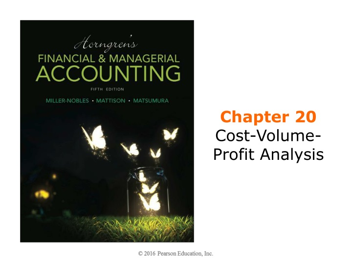 chapter 20 cost volume profit analysis n.