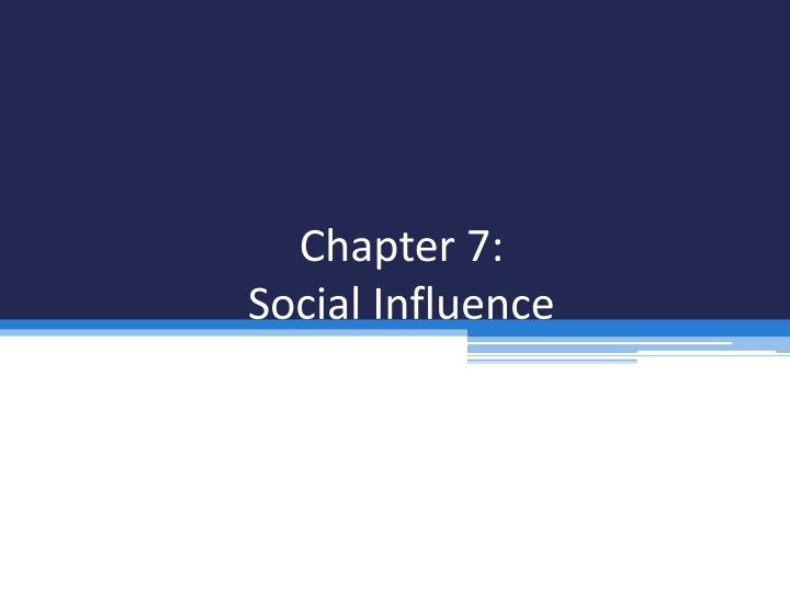 chapter 7 social influence n.