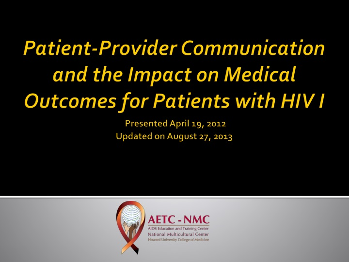 patient provider communication and the impact n.