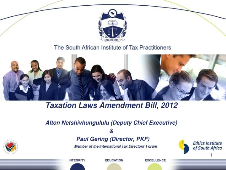 taxation laws amendment bill 2012 alton n.