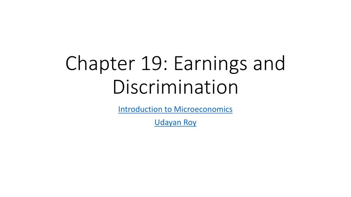 chapter 19 earnings and discrimination n.