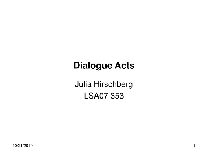 dialogue acts n.