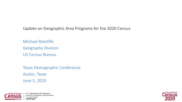 update on geographic area programs for the 2020 n.