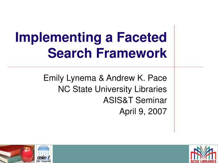 implementing a faceted search framework n.
