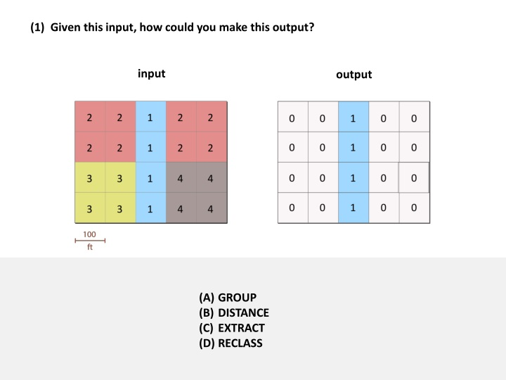 1 given this input how could you make this output n.
