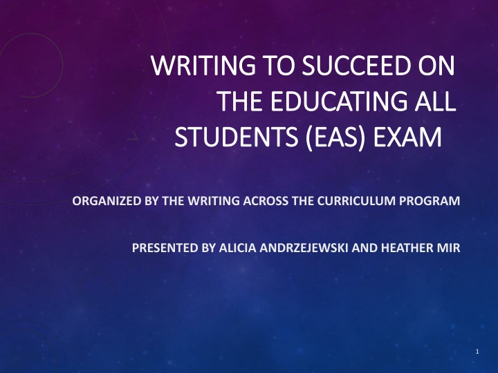 writing to succeed on the educating all students eas exam n.