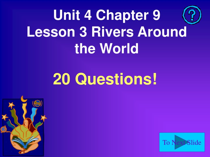 unit 4 chapter 9 lesson 3 rivers around the world n.
