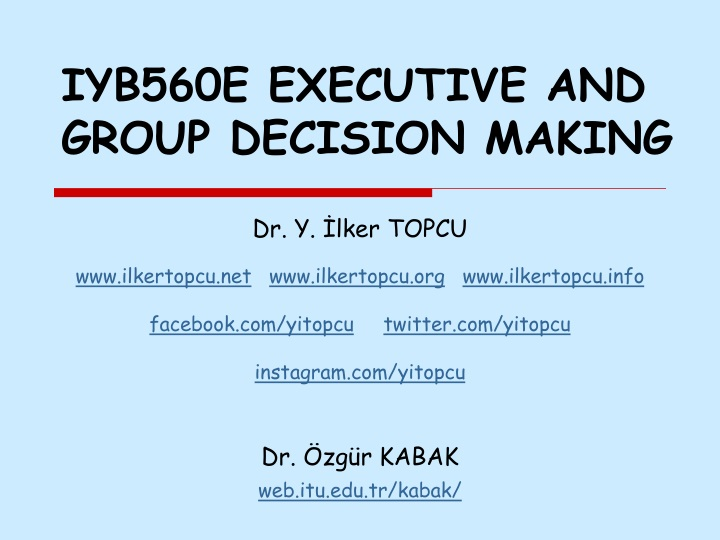 iyb560e executive and group decision making n.