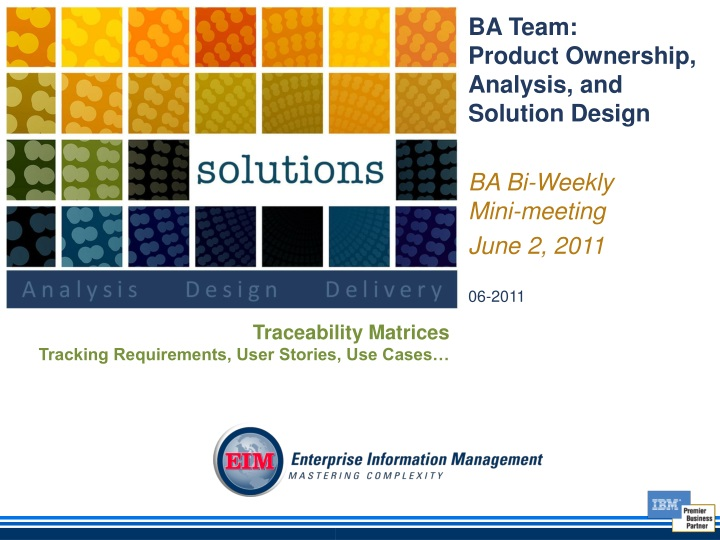 ba team product ownership analysis and solution n.