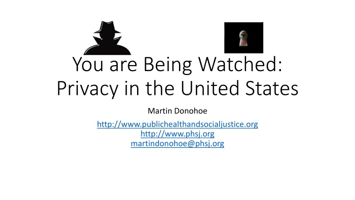 you are being watched privacy in the united states n.