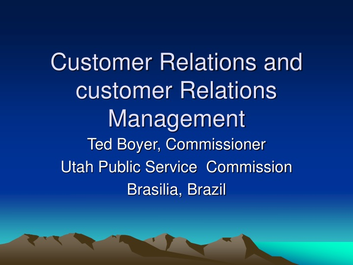 customer relations and customer relations management n.